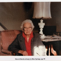 Marvel Burch at home in Blue Springs, age 90