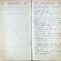 1904 Diary August 21-22