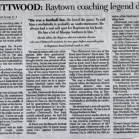 Longtime Raytown coach Chittwood dies in car crash, cont.