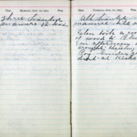 1903 Diary August 10-11