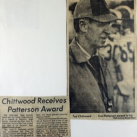 Chittwod Receives Patterson Award