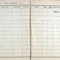 Thomas Family Record Book pages 38 & 39