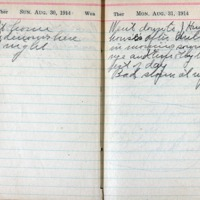 1914 Diary August 30-31