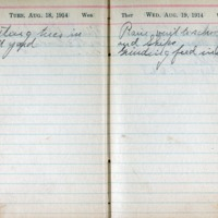 1914 Diary August 18-19