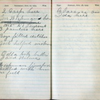 1904 Diary August 27-28