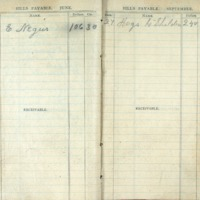 1904 Diary Bills Payable June/September