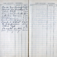 1903 Diary Cash Account November
