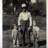 Buford Dehoney and grandsons, Bill and Allen