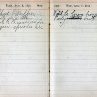 1914 Diary August 4-5