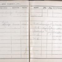 Thomas Family Record book pages 54 & 55