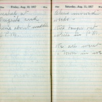 1917 Diary August 10-11