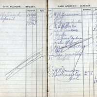 1914 Diary Cash Account January