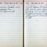 1914 Diary March 19-20