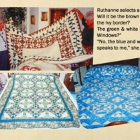 Mom's Magic: Ruthanne Selects a Quilt