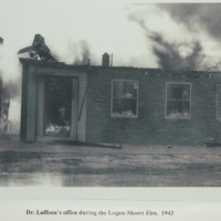 Dr. Laffoon's office during the Logan-Moore Fire, 1943