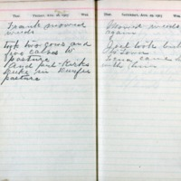 1903 Diary August 28-29