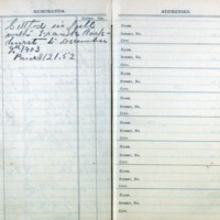 1903 Diary Addresses Page 1
