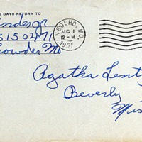 July 31, 1951 (envelope)