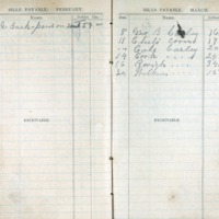 1904 Diary Bills Payable February-March