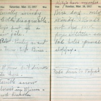 1917 Diary March 17-18