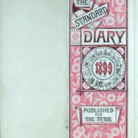 1899 Diary Title Page