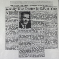 Worldly-Wise Doctor Is G.P. of Year