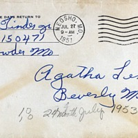 July 26, 1951 (envelope)