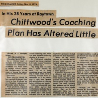 Chittwood's Coaching Plan has Altered Little