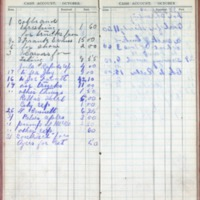 1901 Diary Cash Account October