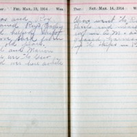 1914 Diary March 13-14