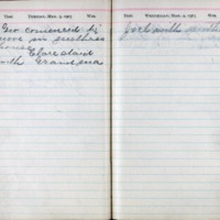 1903 Diary March 3-4