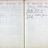 1903 Diary August 2-3