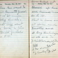1917 Diary March 29-30