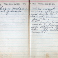 1914 Diary August 12-13