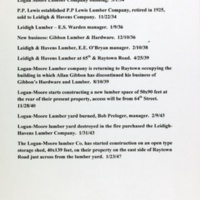 New business-Gibson-Strauss Lumber and Hardware.