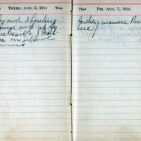 1914 Diary August 6-7