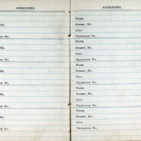 1914 Diary Addresses Page 6 & 7