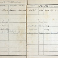 Thomas Family Record Book pages 24 & 25