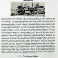 A Century with the Bell, Harrison and Zulauf Families in Jackson County, Missouri and Elsewhere p. 1
