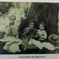 Lawrence Dehoney with Collings cousins