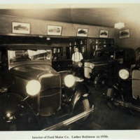 Interior of Ford Motor Co. Luther Robinson ca 1930s