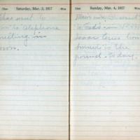 1917 Diary March 3-4