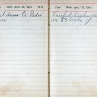 1914 Diary August 16-17
