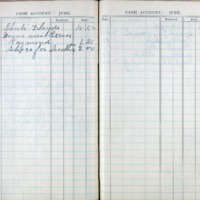 1903 Diary Cash Account June