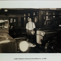 Luther Robinson in Raytown Ford Motor Co. ca 1930