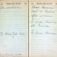 1917 Diary March 23-24