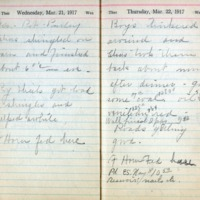 1917 Diary March 21-22