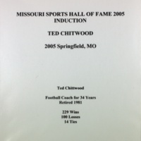 Missouri Sports Hall of Fame Induction Ted Chittwood