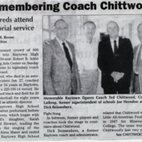 Remembering Coach Chittwood