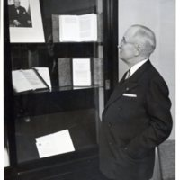 Exhibit about Winston Churchill at Westminster College in Fulton, Missouri, 1956